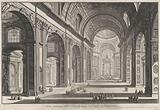 Interior of St Peter's Basilica in Vatican City