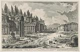 Roman Forum with the Temple of Jupiter Stator in Rome