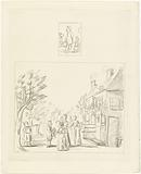 Little boy with small child / Two mothers and five children at the country house