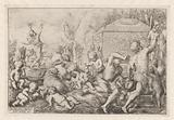 Bacchanal with altar, faun and Silenus