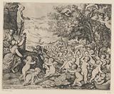 Veneration of Venus by putti