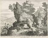 Rocky landscape with Saint Hieronymus