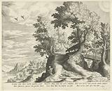 Landscape with the emblem about Death and Cupid