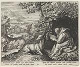 Saint Aegidius of Nîmes as a hermit
