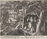 Saint Arnold of Metz as a hermit