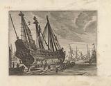 Ship on a shipyard