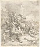 Emperor Henry II the Saint on horseback in a battle