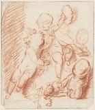 Design for a door or chimney piece with three putti