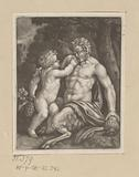 Satyr with a young Bacchus