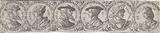 Frisian with six busts in laurel wreaths