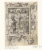 Crucifixion of Christ in a scroll work frame