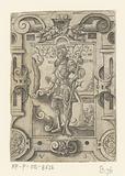 Emperor Claudius in scrollwork frame