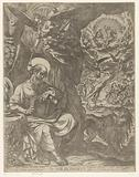 H Hieronymus in the wilderness contemplating the last judgment