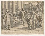 Alexander the Great cuts the Gordian knot