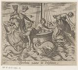 Bacchus turns his captors into dolphins