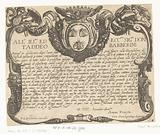 Cartouche with crowned coat of arms and dedication to Taddeo Barberini