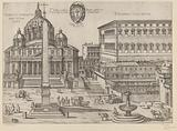 St Peter's Basilica and the Apostolic Palace in Vatican City