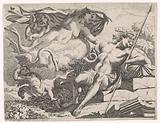 Venus looks at the sleeping Adonis