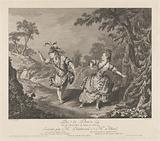 Dauberval and Mademoiselle Allard dancing in a forest