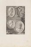 Medallions with portraits of Pericles, Fabius Maximus, Alcibiades and Coriolanus