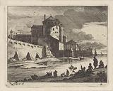 View of a harbor, D