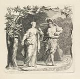 Vignette with Theseus and Ariadne