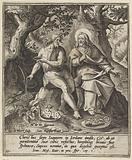 John the Baptist and Christ in the wilderness