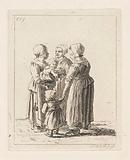 Group of three women and two children