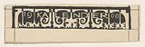 Design for edge of 1900 calendar
