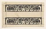 Two designs for edge of 1900 calendar
