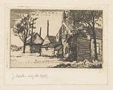 Farm house and hay barn