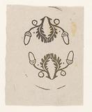 Two vignettes with acorns and oak leaf