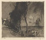 Landscape with thunder-storm