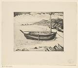 Boat on a Breton beach