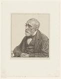 Portrait of Jozef Israëls with folded hands