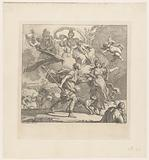 Dido and Aeneas are caught in a storm