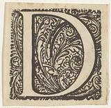 Letter D in an ornamented frame