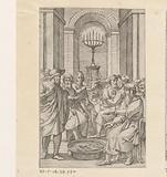 Jewish men in a temple