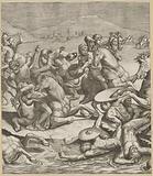 Battle of the Milvian Bridge (left center page)