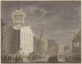 Illumination of the town hall for Willem V and Wilhelmina of Prussia, 1768
