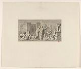 Frisian with triumph by Quintus Fabius Maximus on fireplace in Mayor's room of the Town Hall on Dam Square (first part)