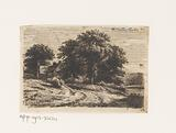 Landscape with man and woman under a lime tree