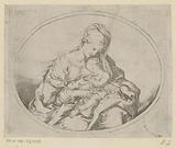 Mary with Child in an oval