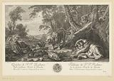 Group of lions and a lion hunt