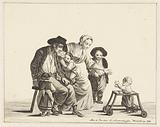 Family with child in trolley