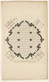 Floor plan of a dome church for the Botermarkt in Amsterdam