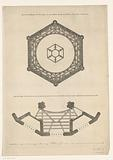 Design for dome base and support for the galleries of a dome church for the Botermarkt in Amsterdam