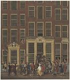The bookstore and lottery office of Jan de Groot in the Kalverstraat in Amsterdam
