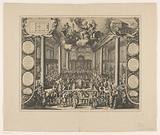Interior of the Portuguese Synagogue in Amsterdam during the dedication, 1675