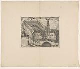 Bird's eye view of the Stock Exchange of Hendrik de Keyser in Amsterdam